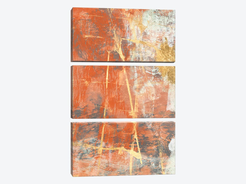 Terre Cotta Lace II by Jennifer Goldberger 3-piece Canvas Print