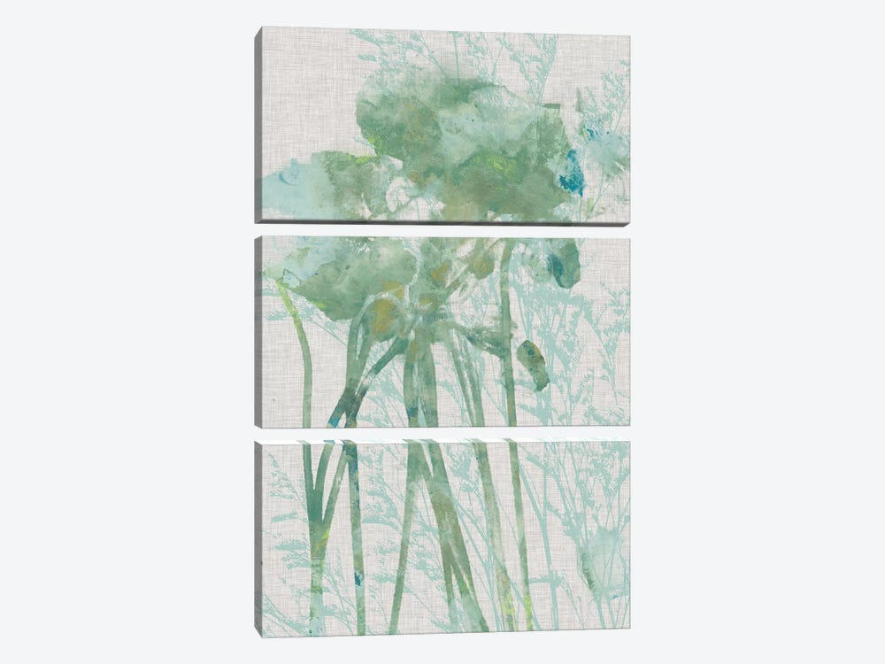 Watercolor Flower Panel I by Jennifer Goldberger 3-piece Canvas Wall Art