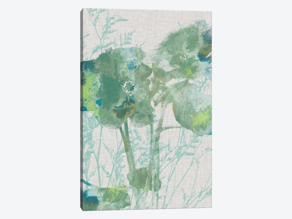 Watercolor Flower Panel II 1-piece Canvas Art Print