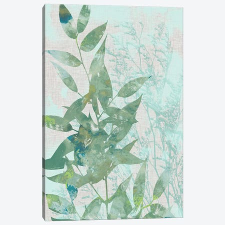 Watercolor Leaf Panel I Canvas Print #JGO283} by Jennifer Goldberger Canvas Art Print