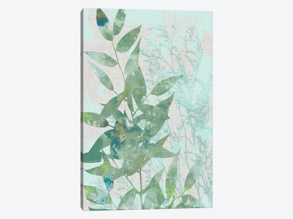 Watercolor Leaf Panel I by Jennifer Goldberger 1-piece Canvas Artwork