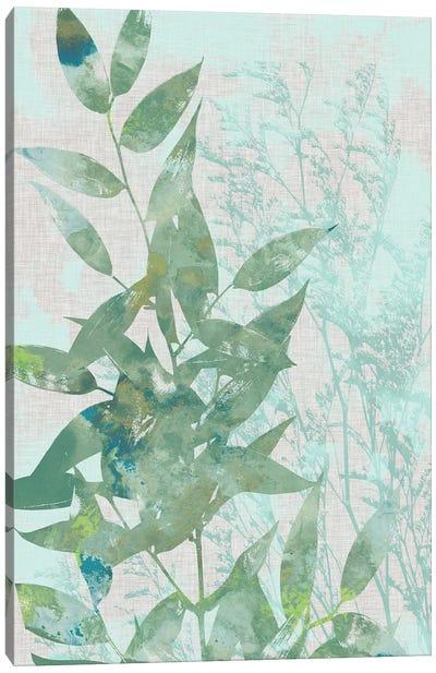 Watercolor Leaf Panel I Canvas Art Print