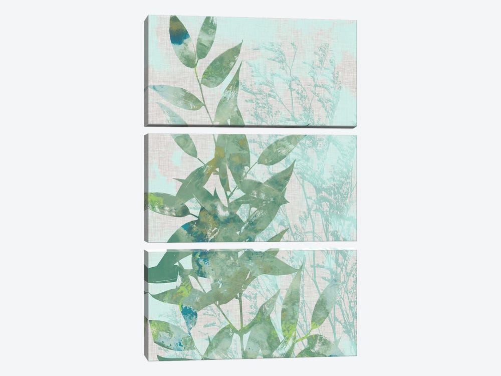 Watercolor Leaf Panel I by Jennifer Goldberger 3-piece Canvas Art