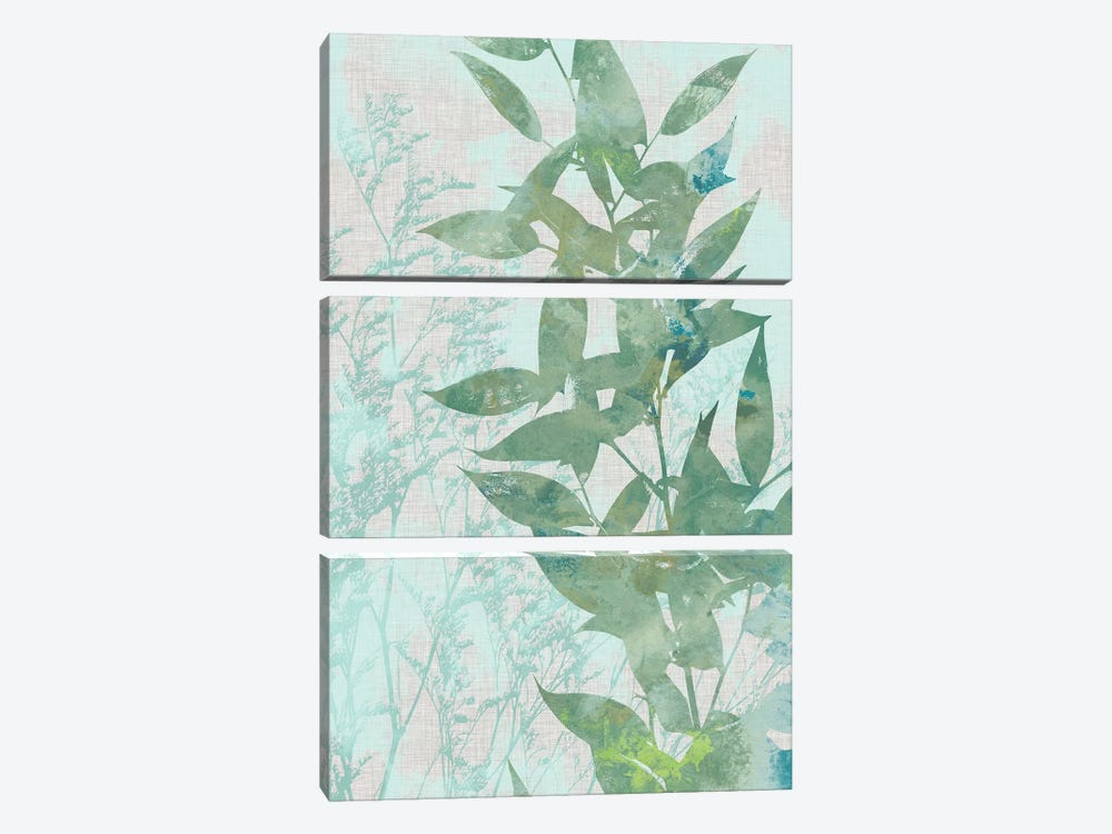 Watercolor Leaf Panel II by Jennifer Goldberger 3-piece Canvas Art Print