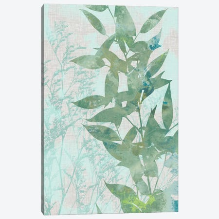 Watercolor Leaf Panel II Canvas Print #JGO284} by Jennifer Goldberger Canvas Wall Art