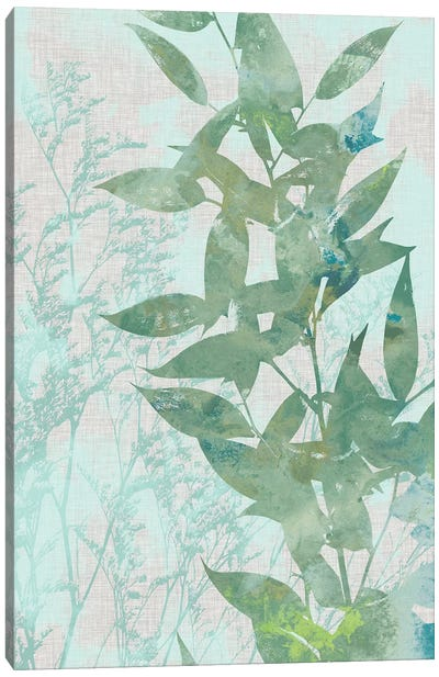 Watercolor Leaf Panel II Canvas Art Print