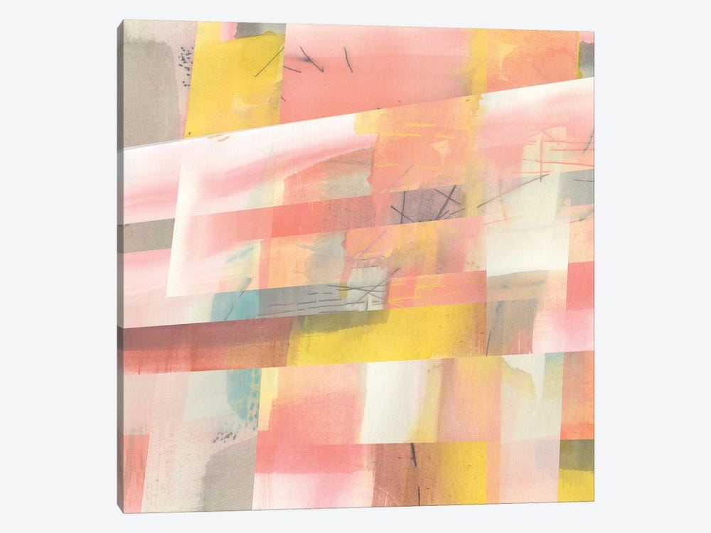 Abstract Weave I by Jennifer Goldberger 1-piece Canvas Art