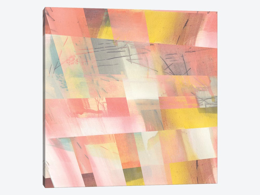 Abstract Weave II by Jennifer Goldberger 1-piece Canvas Print