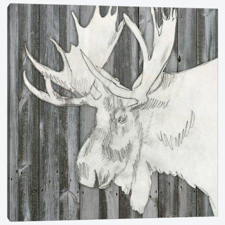 Barnwood Lodge Sketch I Canvas Print #JGO289} by Jennifer Goldberger Canvas Art Print