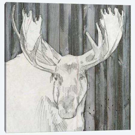 Barnwood Lodge Sketch II Canvas Print #JGO290} by Jennifer Goldberger Canvas Art