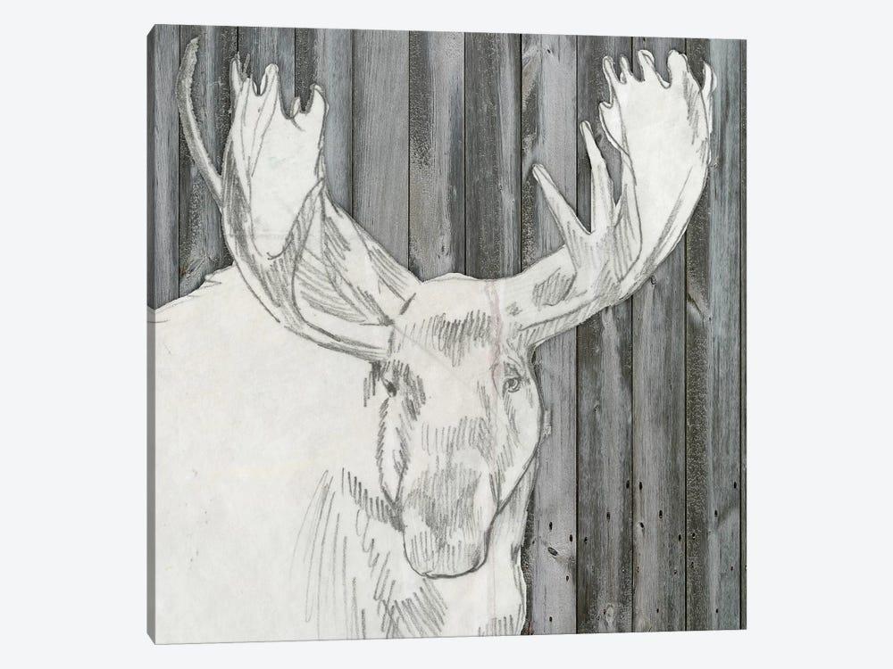 Barnwood Lodge Sketch II by Jennifer Goldberger 1-piece Canvas Artwork