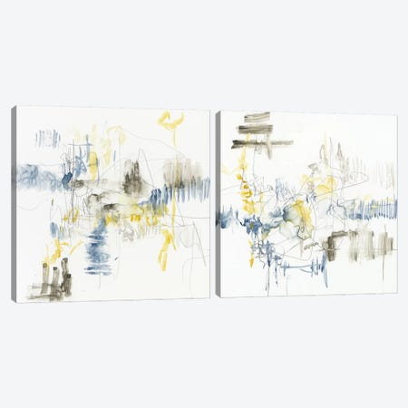 Subtle Gesture Diptych Canvas Print Set #JGO2HSET001} by Jennifer Goldberger Art Print
