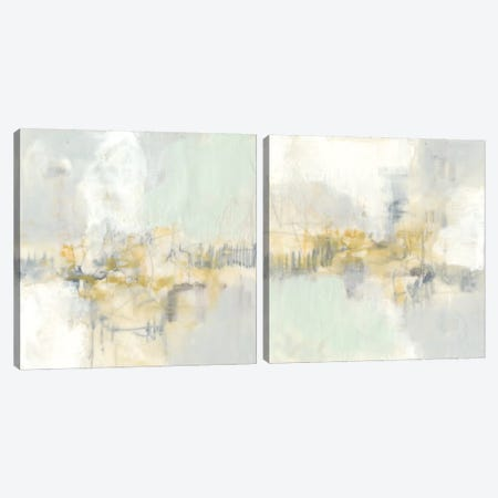 Pastel Obscura Diptych Canvas Print Set #JGO2HSET002} by Jennifer Goldberger Art Print