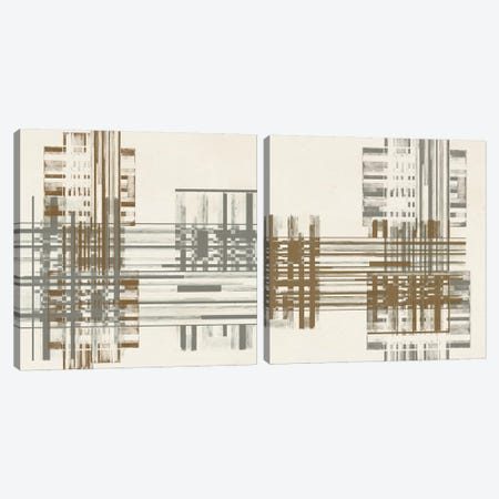 Matrix Illusion Diptych Canvas Print Set #JGO2HSET003} by Jennifer Goldberger Art Print