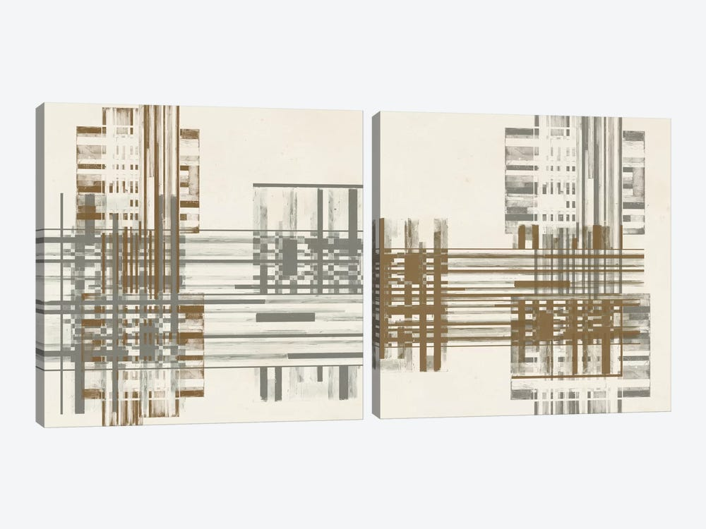 Matrix Illusion Diptych by Jennifer Goldberger 2-piece Art Print