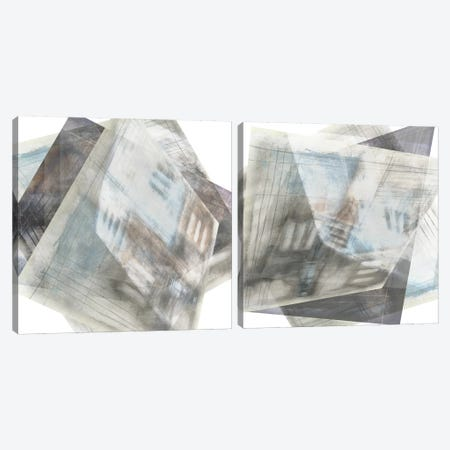 Faceted Illusion Diptych Canvas Print Set #JGO2HSET004} by Jennifer Goldberger Canvas Artwork