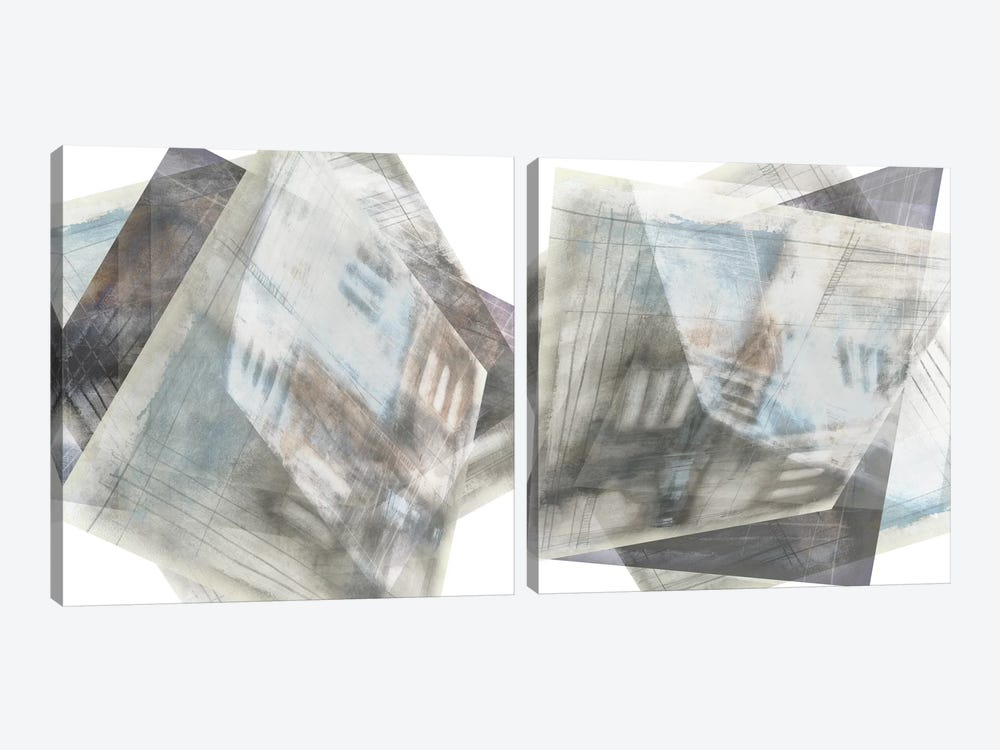 Faceted Illusion Diptych by Jennifer Goldberger 2-piece Canvas Artwork