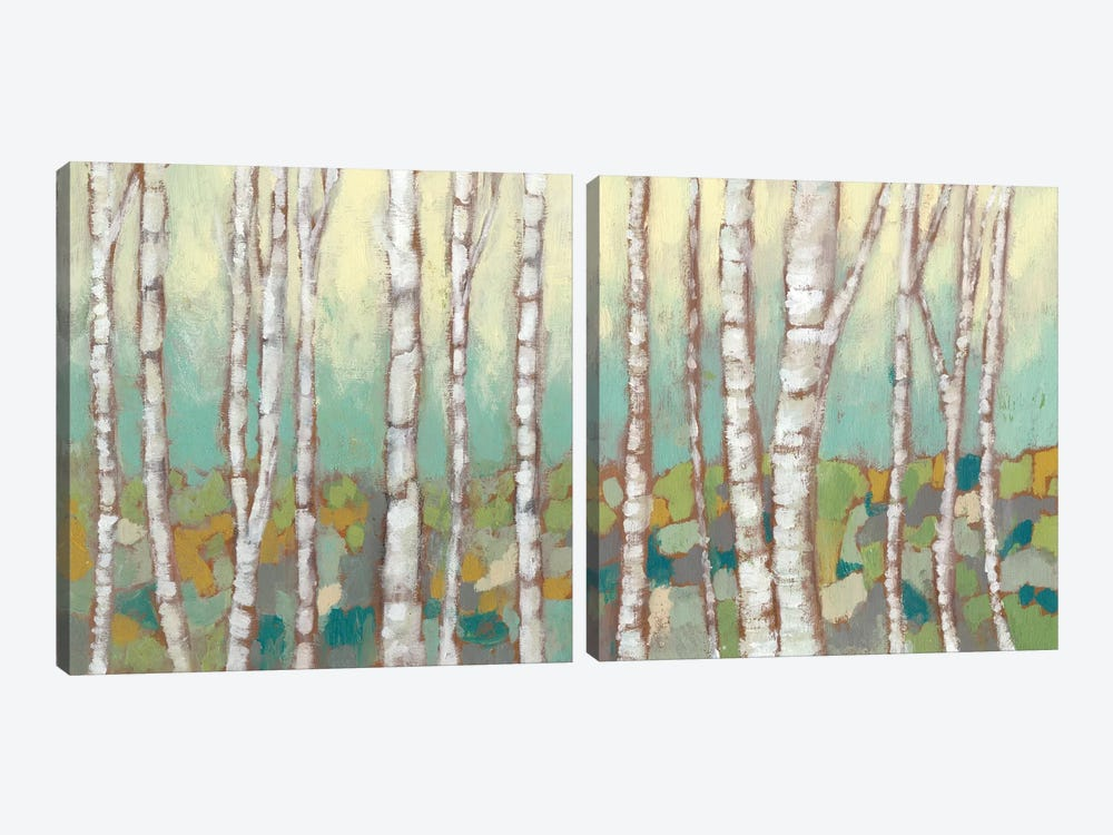 Kaleidoscope Birches Diptych by Jennifer Goldberger 2-piece Canvas Wall Art