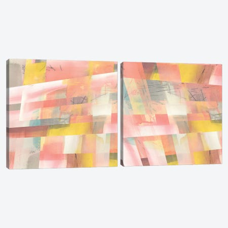 Abstract Weave Diptych Canvas Print Set #JGO2HSET008} by Jennifer Goldberger Art Print