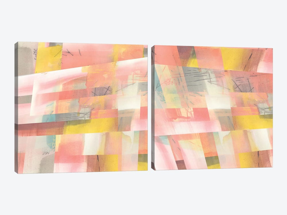 Abstract Weave Diptych by Jennifer Goldberger 2-piece Canvas Art