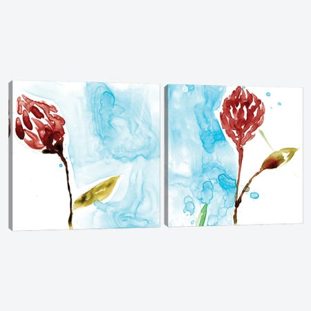 Tropical Display Diptych Canvas Print Set #JGO2HSET009} by Jennifer Goldberger Art Print