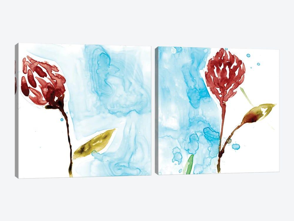 Tropical Display Diptych by Jennifer Goldberger 2-piece Art Print
