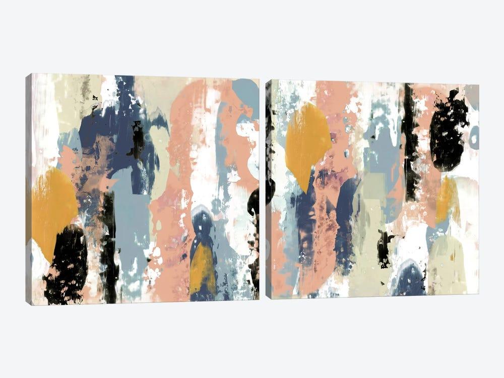 Blueberry Swatches Diptych by Jennifer Goldberger 2-piece Canvas Artwork
