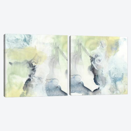 Pastel Cloud Diptych Canvas Print Set #JGO2HSET015} by Jennifer Goldberger Canvas Print