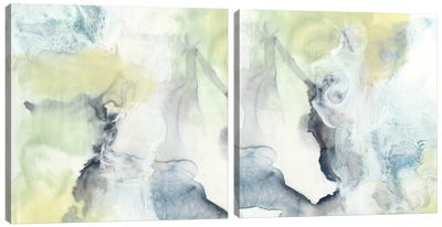 Pastel Cloud Diptych Canvas Art Print