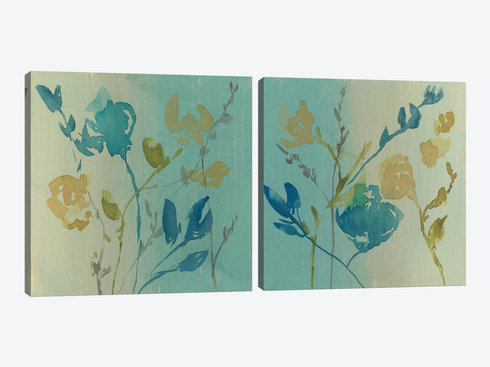 Spa & Sage Bouquet Diptych by Jennifer Goldberger 2-piece Canvas Print