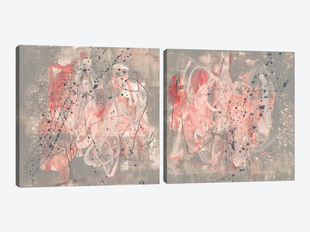 Blush Kinesis Diptych by Jennifer Goldberger 2-piece Canvas Print