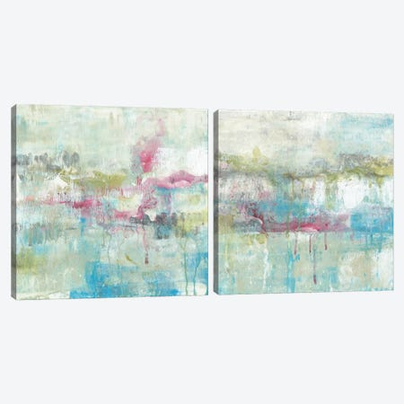 Fresh Abstract Diptych Canvas Print Set #JGO2HSET019} by Jennifer Goldberger Canvas Artwork
