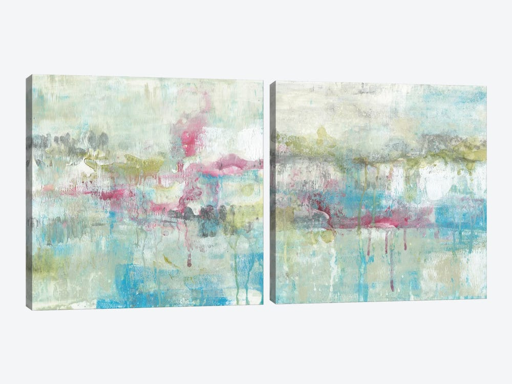 Fresh Abstract Diptych by Jennifer Goldberger 2-piece Canvas Art