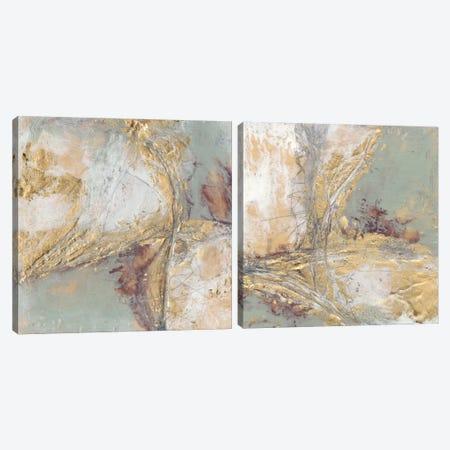 Gilded Circuit Diptych Canvas Print Set #JGO2HSET020} by Jennifer Goldberger Canvas Art Print