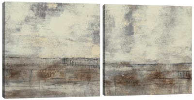 Neutral Plane Diptych Canvas Art Print