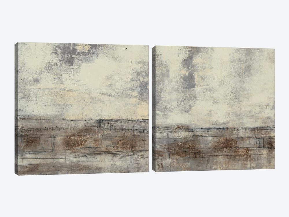 Neutral Plane Diptych by Jennifer Goldberger 2-piece Canvas Print