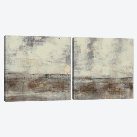 Neutral Plane Diptych Canvas Print Set #JGO2HSET021} by Jennifer Goldberger Canvas Print