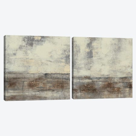 Neutral Plane Diptych Canvas Print Set #JGO2HSET021} by Jennifer Goldberger Canvas Print