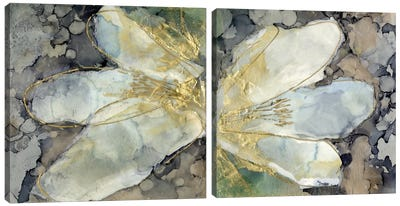 Abstracted Lily Diptych Canvas Art Print