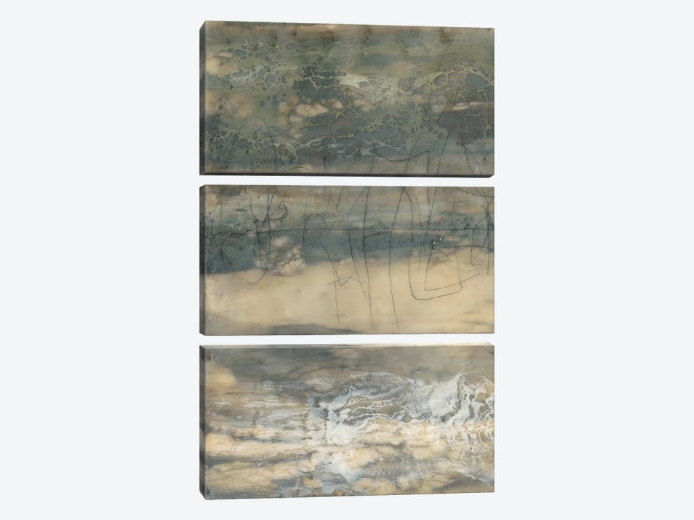 Earthen Lines I by Jennifer Goldberger 3-piece Canvas Art