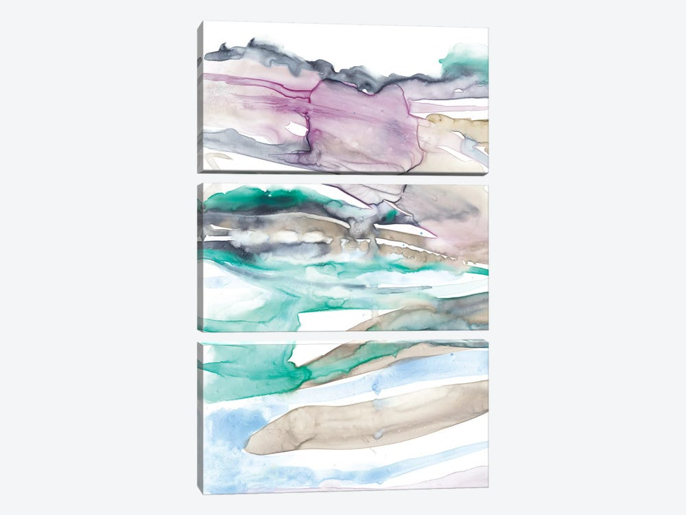 Geode Layers I by Jennifer Goldberger 3-piece Canvas Wall Art