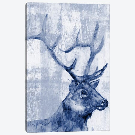 Indigo Elk Canvas Print #JGO315} by Jennifer Goldberger Canvas Wall Art