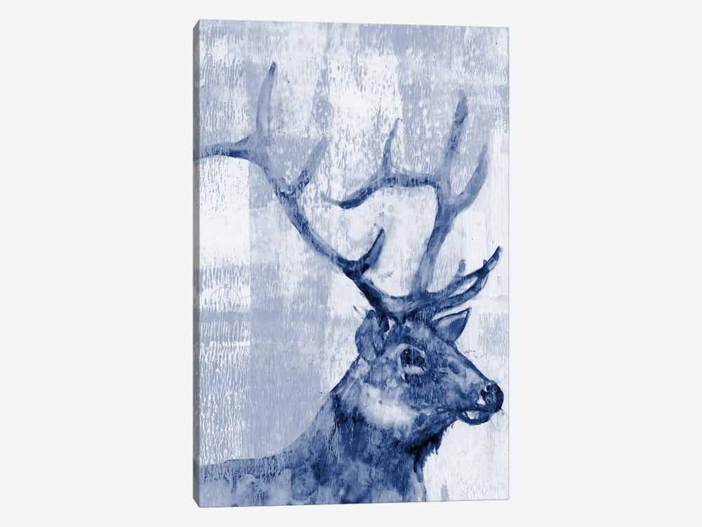 Indigo Elk by Jennifer Goldberger 1-piece Canvas Artwork
