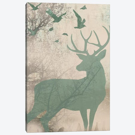 Deer Solace I Canvas Print #JGO31} by Jennifer Goldberger Art Print