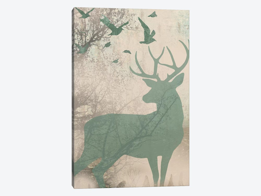 Deer Solace I by Jennifer Goldberger 1-piece Art Print