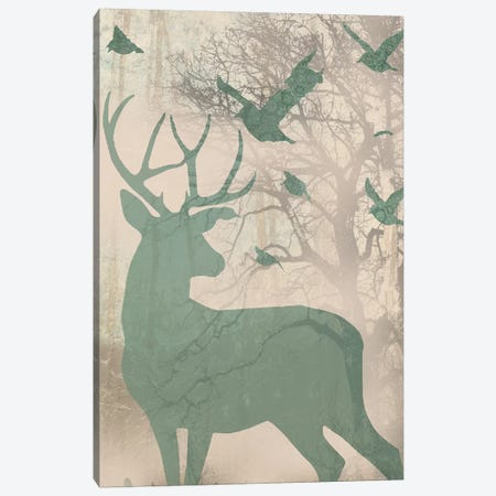 Deer Solace II Canvas Print #JGO32} by Jennifer Goldberger Art Print