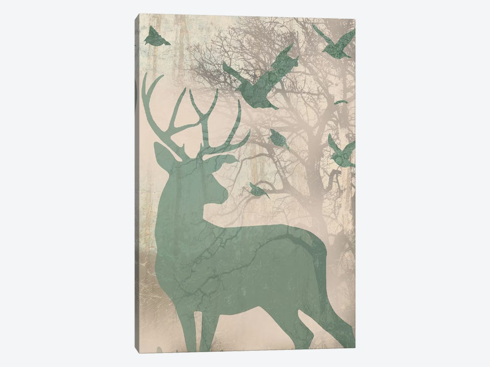 Deer Solace II by Jennifer Goldberger 1-piece Canvas Artwork