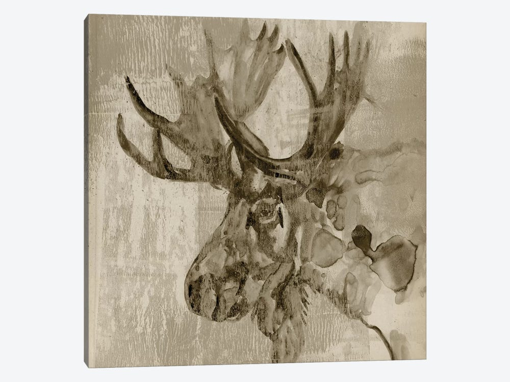 Sepia Moose by Jennifer Goldberger 1-piece Canvas Artwork