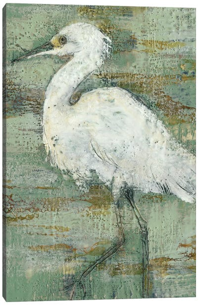Textured Heron I Canvas Art Print