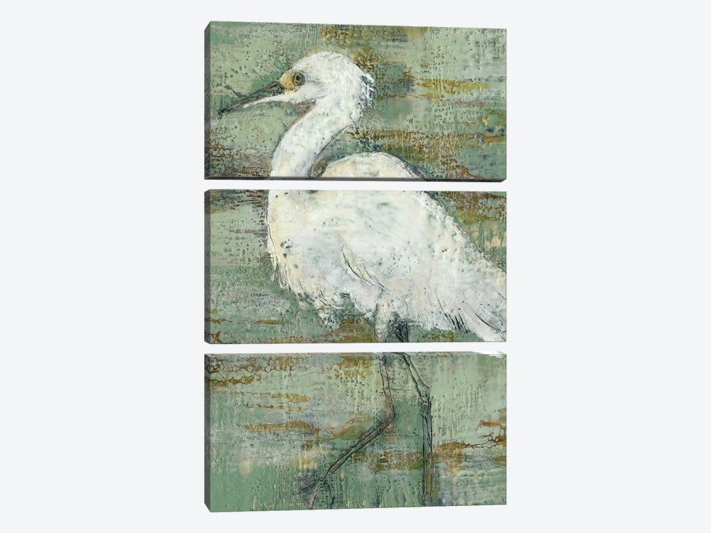 Textured Heron I by Jennifer Goldberger 3-piece Canvas Wall Art